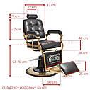 Парикмахерское мужское кресло Boston Lux, фото 3