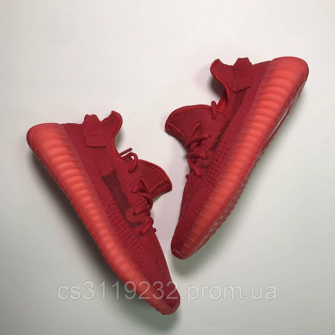 Женские кроссовки Adidas Yeezy Boost 350 Red (красные)