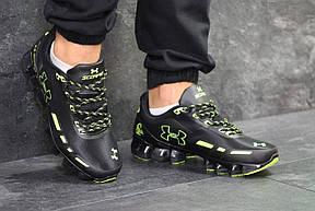 Кроссовки Under Armour Scorpio,черные с салатовым 42,44р, фото 3