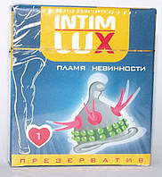 "Презерватив с шариками и усиками Intim Lux ""Пламя невинности"""