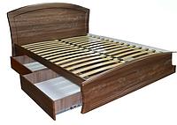Кровать с ящиками для белья Эмилия полуторная с ортопедическими ламелями