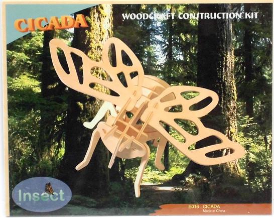 """Сборная деревянная 3D модель """"Цикада"""""""
