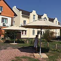 Зонт для кафе, терасы, сада. Размер 4x4. Беж. Квадратный или Круглый.
