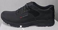Columbia батал!  мужские демисезонные кожаные кроссовки большого размера