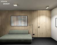 Двери скрытого монтажа в шпоне дуб в потолок