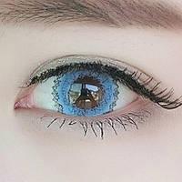 Голубые цветные линзы для глаз купить в интернет-магазине по самым низким ценам в Украине!, фото 1