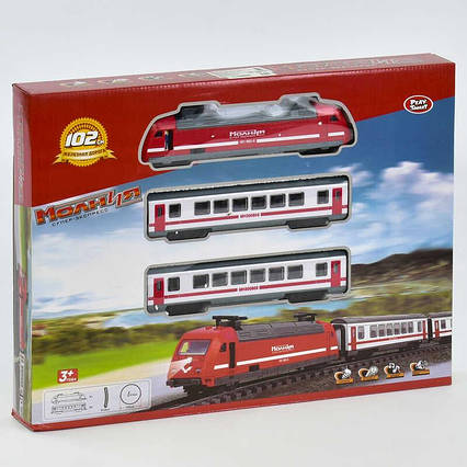 JT Железная дорога 9712-1 В (18) свет, звук, на батарейке, в коробке