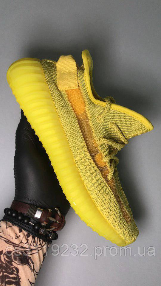 Мужские кроссовки Adidas Yeezy Boost 350 Yellow (желтые)