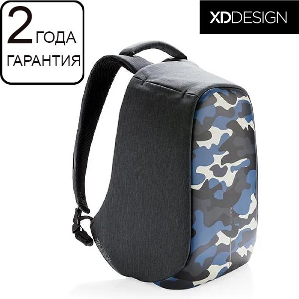 "Антивор рюкзак для ноутбука XD Design Bobby Compact Camouflage Blue 14"" (P705.655)"