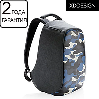 "Антивор рюкзак для ноутбука XD Design Bobby Compact Camouflage Blue 14"" (P705.655), фото 1"