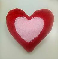 М'яка іграшка-подушка Два серця, 37 см червона
