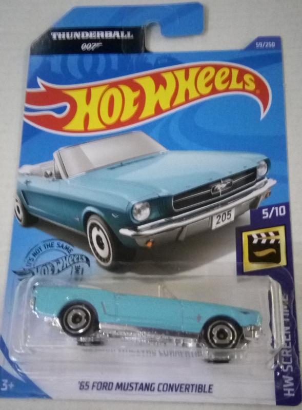 Машинка Hot Wheels 2020 '65 Ford Mustang Convertible