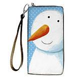 Женский кошелек с ярким принтом на молнии, с ручкой размер 18,5 х 10 см, фото 9