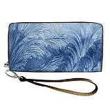 Женский кошелек с ярким принтом на молнии, с ручкой размер 18,5 х 10 см, фото 4