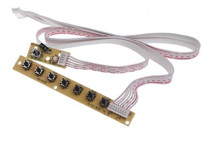 Кнопки управления 7шт + ИК приемник для скалера 3633 8503 SKR.03