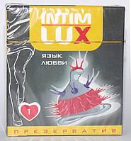 """Презерватив с шариками и усиками Intim Lux """"Язык любви"""""""