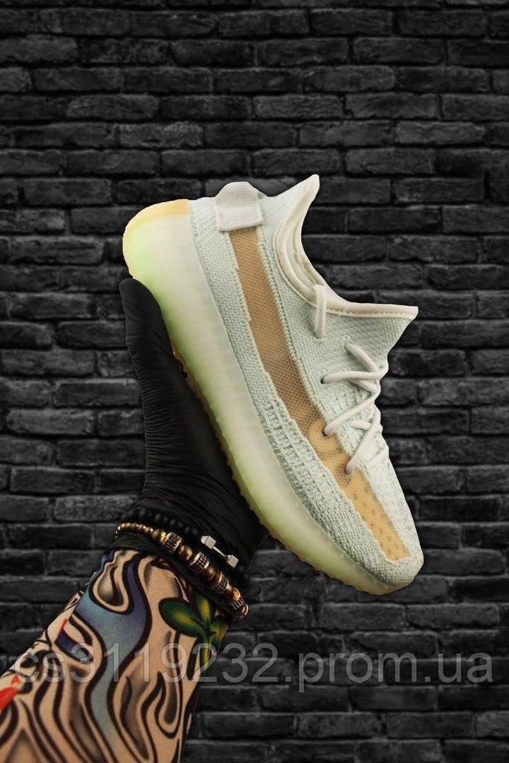 Мужские кроссовки Adidas Yeezy Boost 350 V2 Hyperspace  (белый)