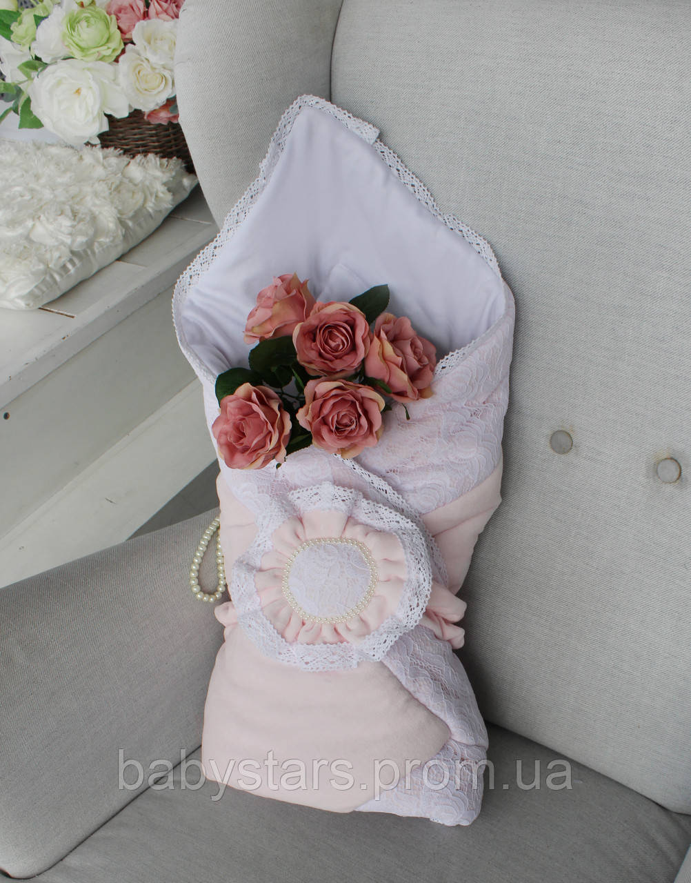 """Демісезонні конверти ковдри """"Рожева квітка"""""""
