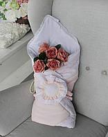 """Демісезонні конверти ковдри """"Рожева квітка"""", фото 1"""