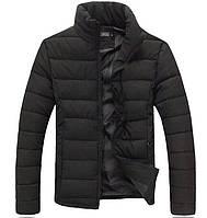 Куртка мужская демисезонная до 0* С X black / пуховик без капюшона весенне-осенний