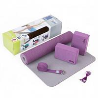 Bodhi FLOW фиолетовый набор для йоги
