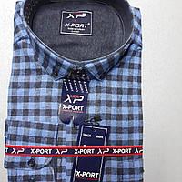 Турецкая кашемировая рубашка в клетку X-PORT (размер XL)