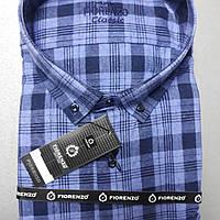 Турецкая кашемировая рубашка в клетку FIORENZO (размер  XXXXL)
