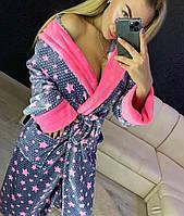 Длинный домашний халат с капюшоном, фото 1