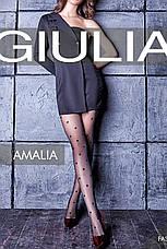 Фантазийные колготки Giulia Amalia 20 Den с узором в крупный горох, фото 2