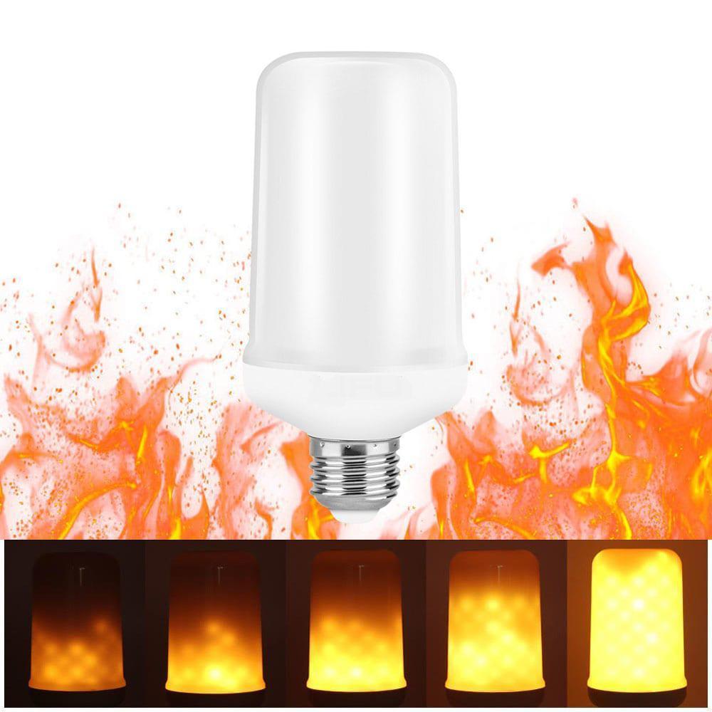 Лампа светодиодная декоративная с эффектом пламени огня E27 LED 9Вт