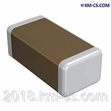 Керамічний Конденсатор, чіп C-1206 0.1 uF 100V X7R 10% // CL31B104KCFNNNE (Samsung)