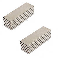 Магниты неодимовые сильные 40x10x3мм N35, 10 шт