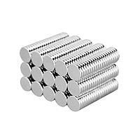 Магниты неодимовые сильные 8x2мм N35 Effetool, 100 шт