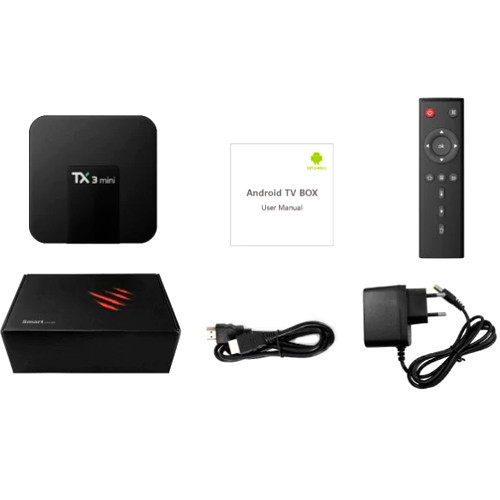 Медиаплеер Android Smart TV Box Amlogic S905W 1/8ГБ Tanix TX3 Mini (01