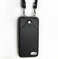 Чехол CROSS на ремешке для iPhone 7 Черный (jl6scy)