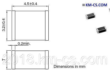 Конденсатор керамический, чип C-1812 2200pF 2kV X7R//C4532X7R3D222K (TDK)