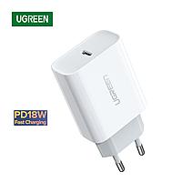 Сетевой адаптер для быстрой зарядки USB Type-C 18W | PD3.0 QC4.0 | Ugreen (белый)