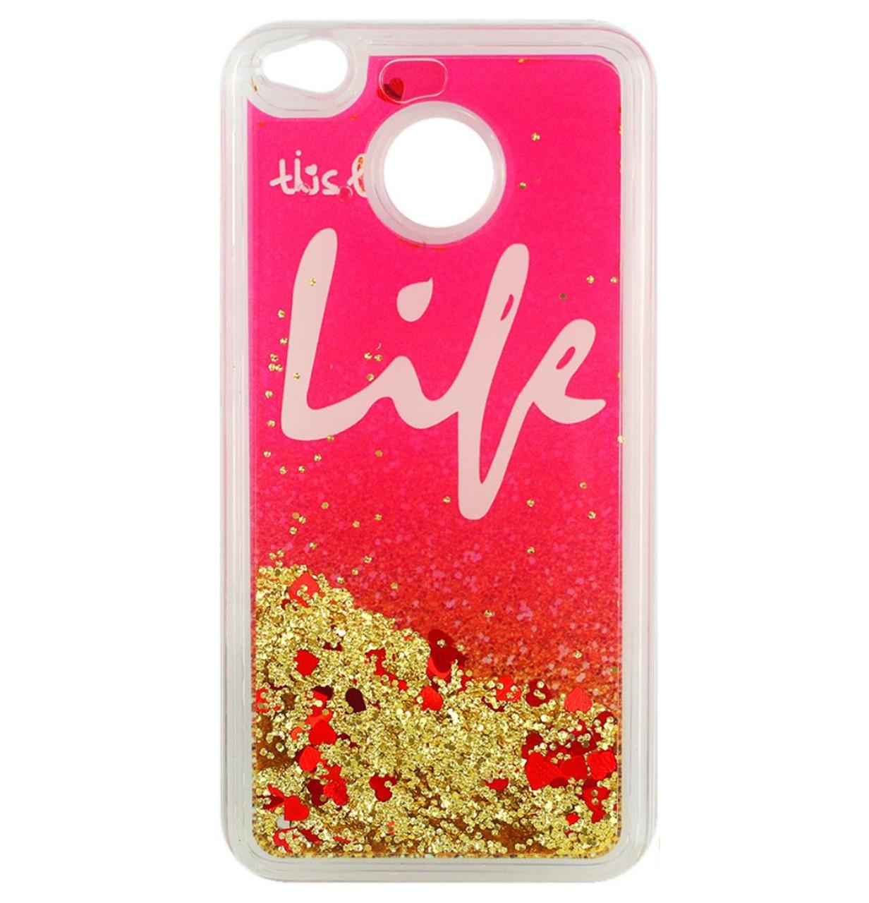 Чехол-накладка (Жидкий Блеск) Life для Xiaomi Redmi 4X Gold