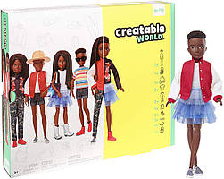 Кукла Creatable World Создаваемый Мир Deluxe темные заплетенные волосы от Mattel
