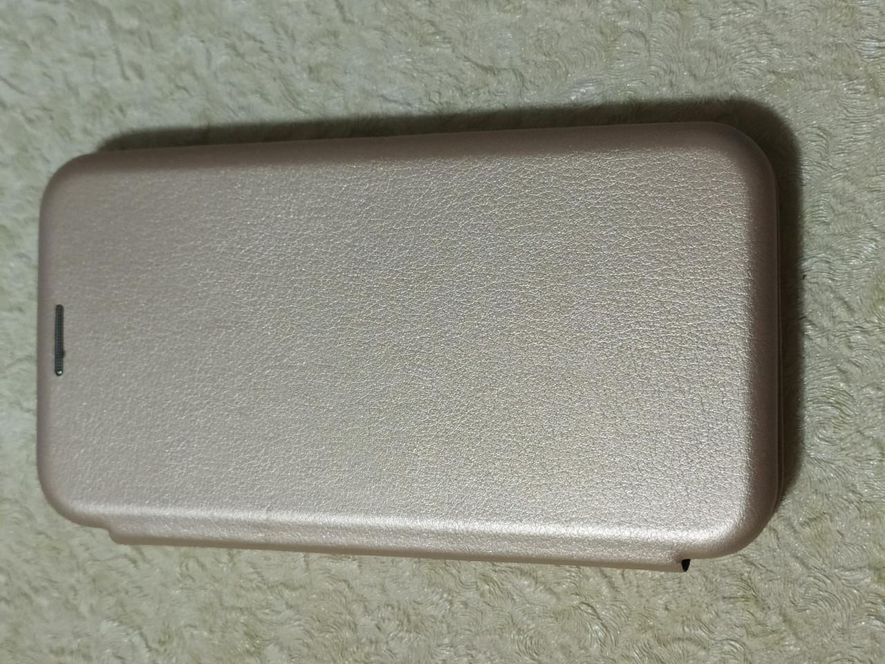 Чехол- книга Premium для iPhone  X / XS   5.8  (золотой)