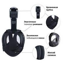 Инновационная маска для снорклинга подводного плавания Easybreath черная, фото 2