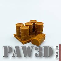 Бочки с горючим, миниатюры для игровой арены