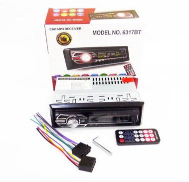 Автомагнитола 1DIN MP3-6317BT RGB/Bluetooth   Автомобильная магнитола   RGB панель + пульт управления