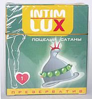 """Презерватив с шариками и усиками Intim Lux """"Поцелуй сатаны"""""""