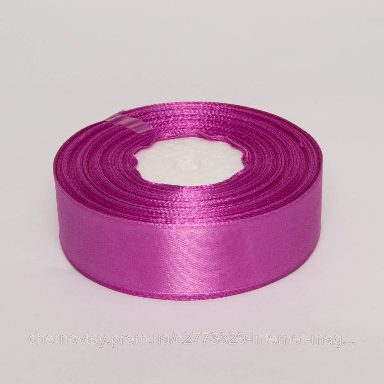 Стрічка атлас 5 см, 33 м, № 65 Світло-фіолетова