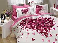 Постельное белье 200х220 HOBBY Поплин Juana розовый