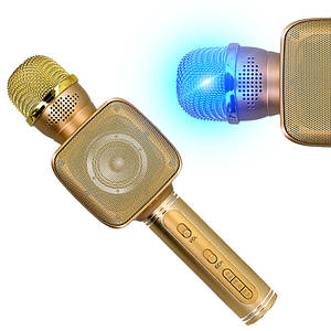 Беспроводной Bluetooth микрофон для караоке Kronos YS-68 Золото (od-1314)