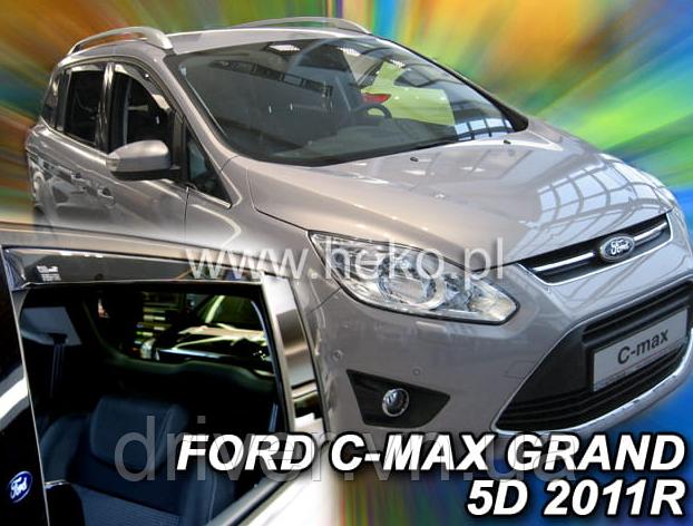 Дефлектори вікон вставні Ford Grand C-Max 2010 -> 5D