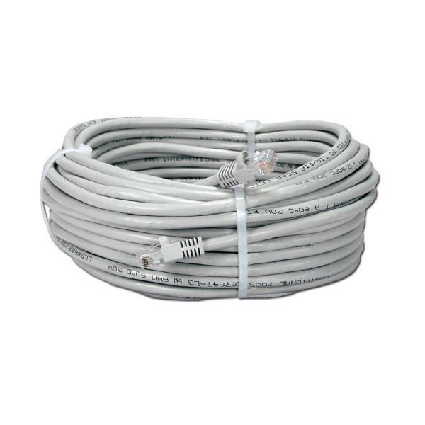 Патч-корд RJ45 50м, сетевой кабель UTP CAT5e 8P8C, LAN, белый