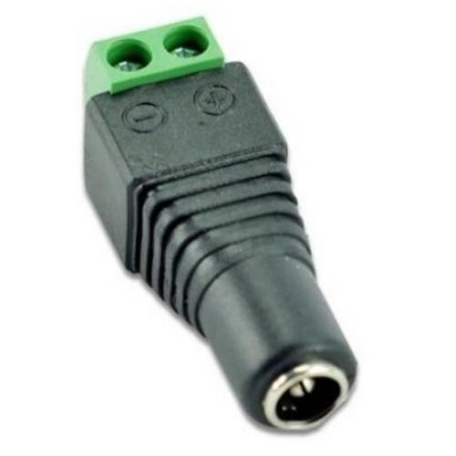 Переходник 5.5x2.1мм разъем мама - клеммники, CCTV (02119)